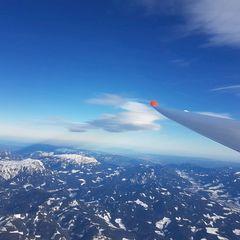 Flugwegposition um 11:23:26: Aufgenommen in der Nähe von Veitsch, St. Barbara im Mürztal, Österreich in 3912 Meter