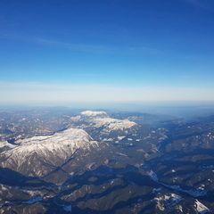 Flugwegposition um 14:30:56: Aufgenommen in der Nähe von Veitsch, St. Barbara im Mürztal, Österreich in 4305 Meter
