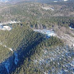 Flugwegposition um 12:57:59: Aufgenommen in der Nähe von Gemeinde Miesenbach, Österreich in 1159 Meter