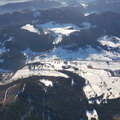 Flugwegposition um 13:11:06: Aufgenommen in der Nähe von Gemeinde Puchberg am Schneeberg, Österreich in 1456 Meter
