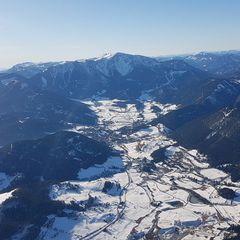 Flugwegposition um 13:16:16: Aufgenommen in der Nähe von Gemeinde Grünbach am Schneeberg, 2733, Österreich in 1777 Meter