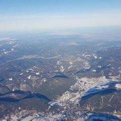 Flugwegposition um 13:50:05: Aufgenommen in der Nähe von Gemeinde Puchberg am Schneeberg, Österreich in 3705 Meter
