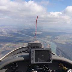 Flugwegposition um 11:55:23: Aufgenommen in der Nähe von Altötting, Deutschland in 1438 Meter