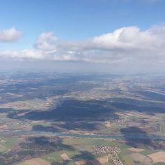 Flugwegposition um 11:55:12: Aufgenommen in der Nähe von Altötting, Deutschland in 1476 Meter