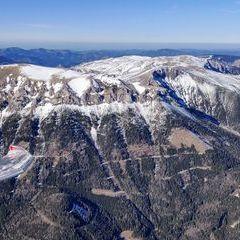 Flugwegposition um 14:18:47: Aufgenommen in der Nähe von Kapellen, Österreich in 2210 Meter