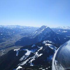 Flugwegposition um 14:30:36: Aufgenommen in der Nähe von Hall, 8911 Hall, Österreich in 2192 Meter