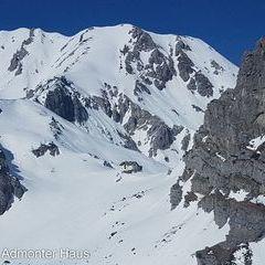Flugwegposition um 13:01:26: Aufgenommen in der Nähe von Weng im Gesäuse, 8913, Österreich in 1664 Meter