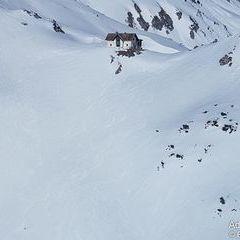 Flugwegposition um 13:02:55: Aufgenommen in der Nähe von Hall, 8911 Hall, Österreich in 1705 Meter