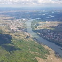 Flugwegposition um 12:08:43: Aufgenommen in der Nähe von Gemeinde Dürnstein, 3601 Dürnstein, Österreich in 1551 Meter