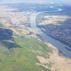 Flugwegposition um 12:08:45: Aufgenommen in der Nähe von Gemeinde Dürnstein, 3601 Dürnstein, Österreich in 1551 Meter