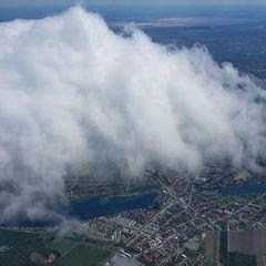 Flugwegposition um 11:02:18: Aufgenommen in der Nähe von Gemeinde Ebenfurth, Österreich in 2316 Meter