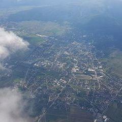Flugwegposition um 15:04:17: Aufgenommen in der Nähe von Gemeinde Traiskirchen, Traiskirchen, Österreich in 2455 Meter