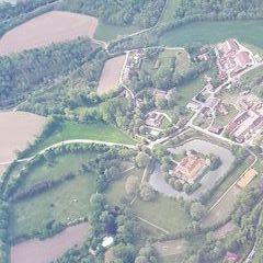 Flugwegposition um 13:55:06: Aufgenommen in der Nähe von St. Pölten, Österreich in 1605 Meter