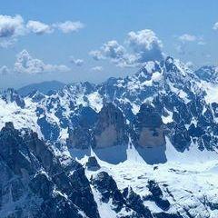 Flugwegposition um 11:09:41: Aufgenommen in der Nähe von 39038 Innichen, Südtirol, Italien in 3677 Meter