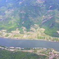 Flugwegposition um 14:04:50: Aufgenommen in der Nähe von Gemeinde Spitz, 3620, Österreich in 1288 Meter