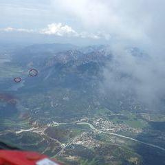 Flugwegposition um 11:38:02: Aufgenommen in der Nähe von Gemeinde Musau, 6600, Österreich in 2558 Meter