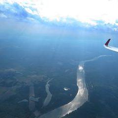 Flugwegposition um 15:14:46: Aufgenommen in der Nähe von Tulln an der Donau, Österreich in 1845 Meter