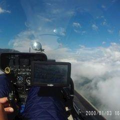 Flugwegposition um 14:02:05: Aufgenommen in der Nähe von 24020 Valbondione, Bergamo, Italien in 2923 Meter