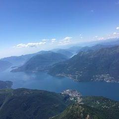 Flugwegposition um 11:27:54: Aufgenommen in der Nähe von 23824 Dorio, Lecco, Italien in 2629 Meter