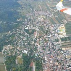 Flugwegposition um 16:12:52: Aufgenommen in der Nähe von Eisenstadt, Österreich in 1460 Meter