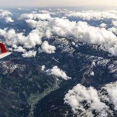 Flugwegposition um 13:20:47: Aufgenommen in der Nähe von Irdning, 8952, Österreich in 4749 Meter
