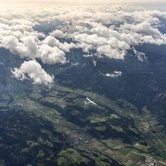 Flugwegposition um 13:46:08: Aufgenommen in der Nähe von Niederöblarn, 8960, Österreich in 6437 Meter