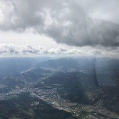 Flugwegposition um 13:24:54: Aufgenommen in der Nähe von Gemeinde Oberaich, 8600 Oberaich, Österreich in 2532 Meter