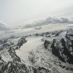Flugwegposition um 14:34:34: Aufgenommen in der Nähe von Gemeinde St. Sigmund im Sellrain, Österreich in 3103 Meter