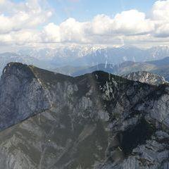 Flugwegposition um 14:15:38: Aufgenommen in der Nähe von Stadtgemeinde Gmunden, 4810 Gmunden, Österreich in 1618 Meter