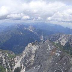 Flugwegposition um 10:00:56: Aufgenommen in der Nähe von Gemeinde St. Jakob im Rosental, Österreich in 2445 Meter