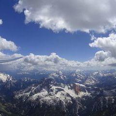 Flugwegposition um 12:10:28: Aufgenommen in der Nähe von 33027 Paularo, Udine, Italien in 2624 Meter