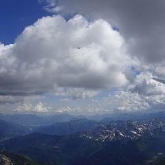 Flugwegposition um 12:45:12: Aufgenommen in der Nähe von Gemeinde Obertilliach, 9942 Obertilliach, Österreich in 3219 Meter