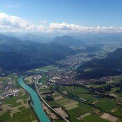 Flugwegposition um 09:00:11: Aufgenommen in der Nähe von Rosenheim, Deutschland in 1719 Meter