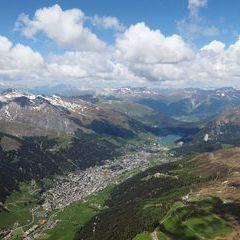 Flugwegposition um 12:57:17: Aufgenommen in der Nähe von Prättigau/Davos, Schweiz in 3084 Meter