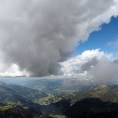 Flugwegposition um 14:32:29: Aufgenommen in der Nähe von Gemeinde Mayrhofen, Österreich in 3073 Meter