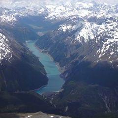 Flugwegposition um 12:43:17: Aufgenommen in der Nähe von Bezirk Inn, Schweiz in 3513 Meter