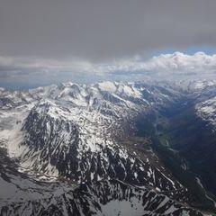 Flugwegposition um 14:23:50: Aufgenommen in der Nähe von Gemeinde Pfunds, 6542 Pfunds, Österreich in 3792 Meter