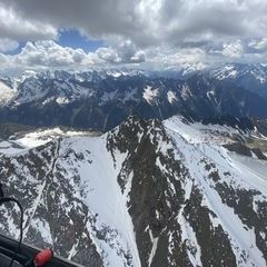 Verortung via Georeferenzierung der Kamera: Aufgenommen in der Nähe von Gemeinde Brandberg, 6290, Österreich in 3100 Meter