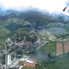 Flugwegposition um 11:05:22: Aufgenommen in der Nähe von Gemeinde Güssing, Güssing, Österreich in 1139 Meter