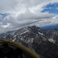 Flugwegposition um 12:55:52: Aufgenommen in der Nähe von Gemeinde Maria Alm am Steinernen Meer, 5761, Österreich in 2658 Meter