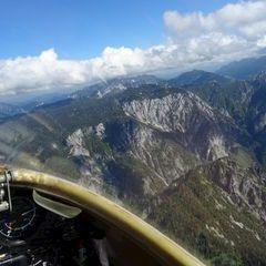 Flugwegposition um 14:14:59: Aufgenommen in der Nähe von Eisenerz, Österreich in 2081 Meter