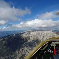 Flugwegposition um 15:31:15: Aufgenommen in der Nähe von Gemeinde Hinterstoder, Hinterstoder, Österreich in 2516 Meter