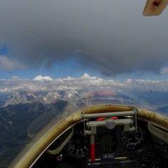 Flugwegposition um 13:37:28: Aufgenommen in der Nähe von Gemeinde Tarrenz, 6464 Tarrenz, Österreich in 2934 Meter