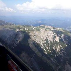Flugwegposition um 12:40:05: Aufgenommen in der Nähe von Gemeinde Reichenau an der Rax, Österreich in 2255 Meter