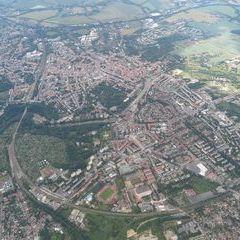 Flugwegposition um 13:45:54: Aufgenommen in der Nähe von Gmina Zgorzelec, 59-900 Görlitz, Polen in 1715 Meter