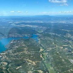 Flugwegposition um 11:59:32: Aufgenommen in der Nähe von Département Alpes-de-Haute-Provence, Frankreich in 1743 Meter