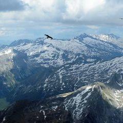 Flugwegposition um 14:55:39: Aufgenommen in der Nähe von Gemeinde Hüttschlag, 5612, Österreich in 2976 Meter