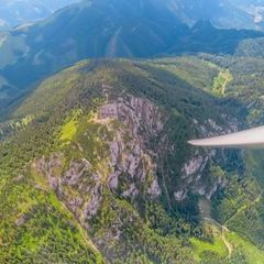 Flugwegposition um 10:43:14: Aufgenommen in der Nähe von Gemeinde St. Kathrein am Offenegg, Österreich in 1971 Meter