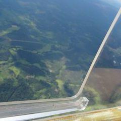 Flugwegposition um 13:50:19: Aufgenommen in der Nähe von Freyung-Grafenau, Deutschland in 1958 Meter