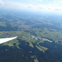 Flugwegposition um 13:50:28: Aufgenommen in der Nähe von Freyung-Grafenau, Deutschland in 1979 Meter